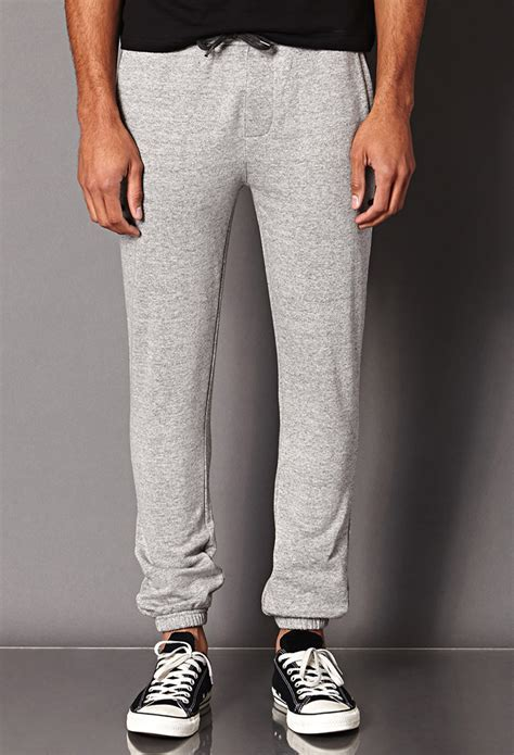 Lyst - Forever 21 Marled Sweatpants in Gray for Men